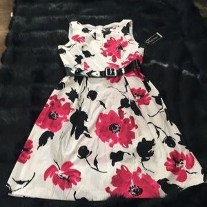Jessica Howard Cotton Floral Dress NWT Size 10
